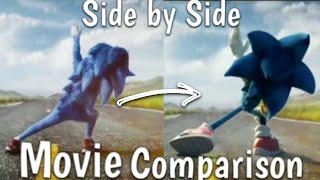 Sonic The Hedgehog Trailer Side By Side Comparison