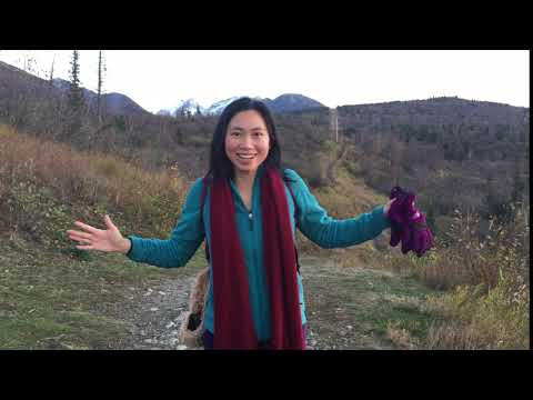 """""""大家好,我是顺玉老师,希望你能和我一起就快乐地学中文!""""  *filmed in Chugach State Park, Anchorage AK"""