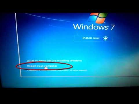 Video Cara menghatasi laptop mati hidup tidak bisa masuk boot windows