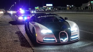 BUGATTI  PULLED OVER BY NEVADA STATE POLICE FOR 200 MPH HIGHWAY PULL
