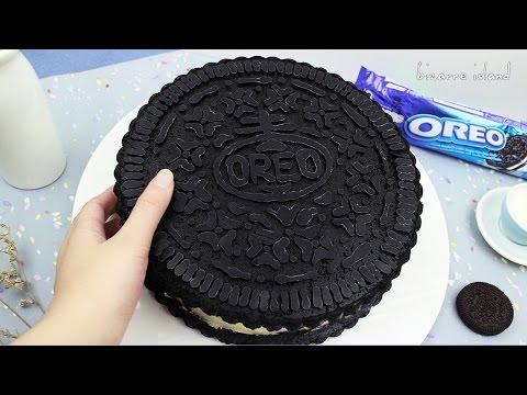 DIY GIANT OREO !! NO BAKE Oreo Cheesecake Recipe HOW TO no gelatine   d for delicious