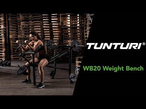 Promovideo: Posilovací lavice TUNTURI WB40 Compact Width Weight Bench