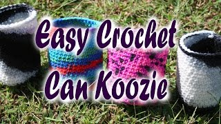 Easy crochet Can Koozie (very first Tutorial)