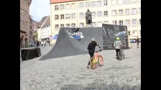 preview picture of video 'District Ride Nuremberg 2014 GoPro Upsinde Down Training'