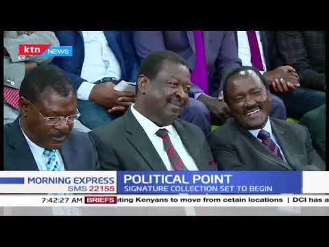 Political Point: Raila  Odinga shuts door on BBI Negotiations; signature collection set to begin