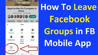How To Leave Facebook Groups in Facebook Mobile Application - 2020 Facebook Tips