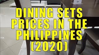 Dining Set Prices In The Philippines. (2020)