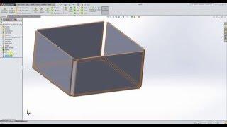 Solidworks/Sheet metal #1 Quick Tutorial - Metal Box/Flat-Pattern