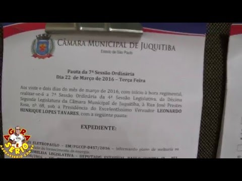 Câmara na publica a ordem do dia da 7ª Sessão Ordinária de Juquitiba população tem acesso somente a pauta