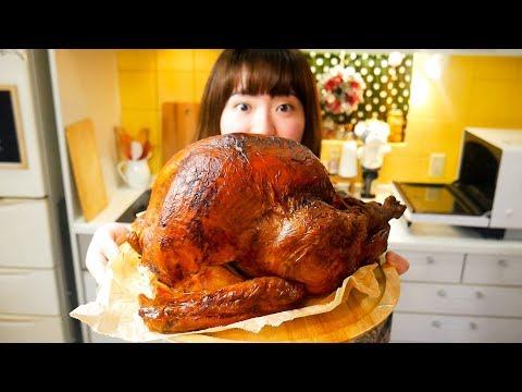 , title : '【クリスマス】JKが本気で七面鳥(約7キロ)を焼いてみた【コストコ巨大ターキー】