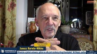 ✪ NA ŻYWO ✪ Janusz Korwin-Mikke- prawybory + pytania 25.11.2019