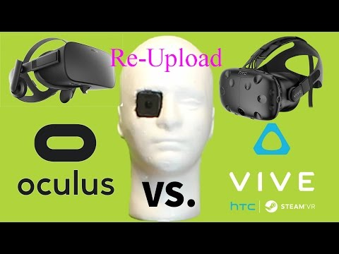 Side by Side Oculus Rift and HTC Vive +Touch Controllers