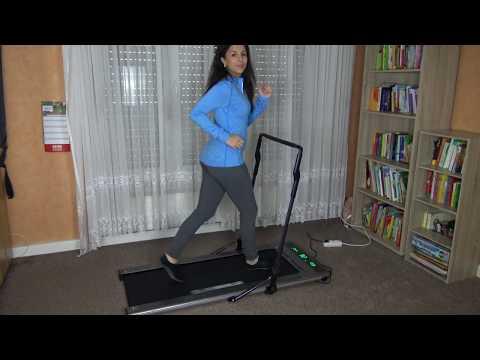 Platzsparendes Laufband für Zuhause - Slimwalk S200 von Miweba Sports