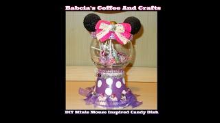 Dollar Tree Minnie Mouse Candy Jar