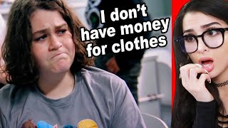 Poor Kid Doesn't Have Money For New Clothes