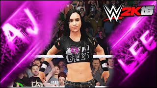 WWE 2K16 - AJ Lee - CAW Formula+Entrance & Finisher
