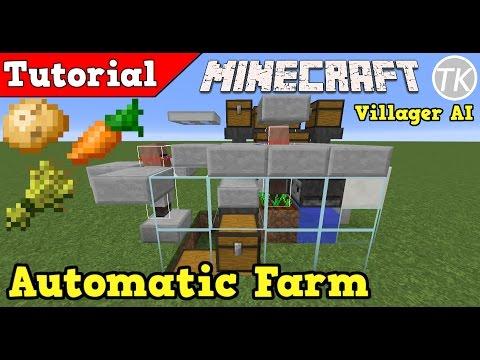 minecraft fully auto wheat farm