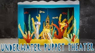 DIY UNDERWATER PUPPET THEATER MADE OF CEREAL BOX