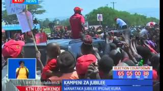 Rais Uhuru Kenyatta amkashifu gavana wa Bomet Isaac Ruto akiwa kampeni Nakuru