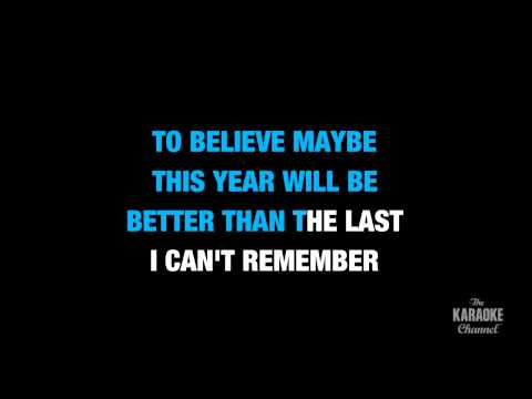 "A Long December In The Style Of ""Counting Crows"" Karaoke Video With Lyrics (no Lead Vocal) - TheKARAOKEChannel"