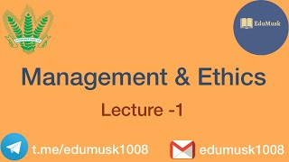 FCI AGM | MANAGEMENT AND ETHICS | LECTURE 1 | IBPS AFO, AAO, AO