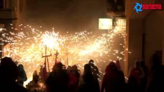 preview picture of video 'Diables Sa Forcanera. Correfoc 10 Anys de Foc. Festa Major de Blanes 2013'