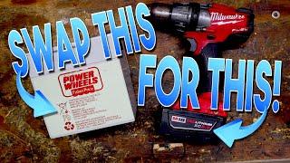 Power Wheels Vehicle 18 Volt Milwaukee Battery Upgrade!