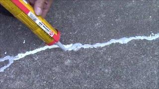 Repair Concrete, Cement Crack on Driveway, Patio - Stop Water, Sun Damage