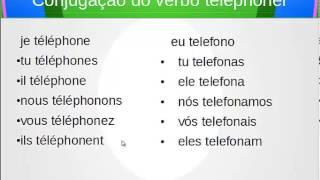 Conjugação no presente do verbo habiter,téléphoner,voyager - morar,telefonar,viajar em Francês