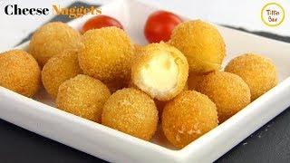 Fried Mozzarella Balls / Cheese Nuggets Recipe For Kids By Tiffin Box | Mozzarella Sticks Recipe