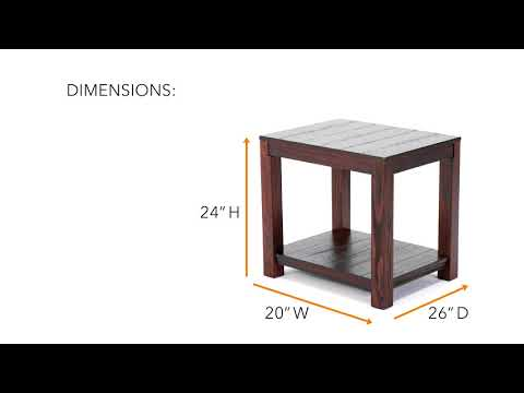 Grinlyn T660-3 Rectangular End Table