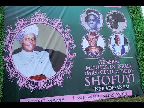 Big Men & Women storm Actress Biodun Okeowo Omobutty's mum's burial In Different Ankara Style