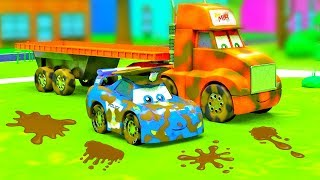 City of Little Cars - Big Truck in the Mud, Cars on Dirt and Magic Car Wash