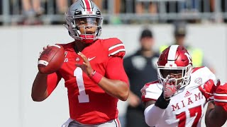 Justin Fields Throws 6 TDs in 2nd Quarter // Ohio State vs. Miami Touchdown School record Highlights