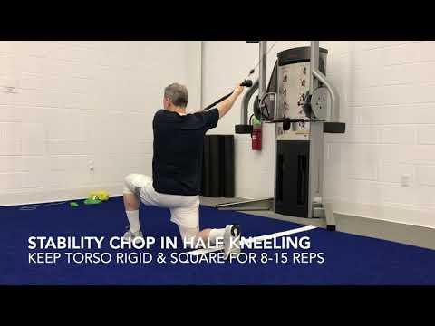 Half Kneeling Stability Chop Exercise - смотреть онлайн на
