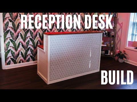 Build this Tile Reception Desk - Woodworking Business Idea