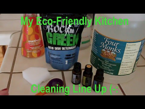 My Eco Friendly Kitchen Cleaners **no music!!**