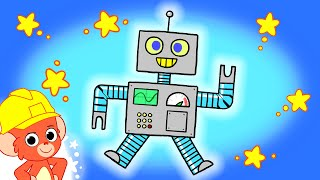 Cartoons for kids | Robots, Cars and more vehicles! | Educational videos for children | Club Baboo