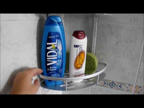 Mensole ad angolo per il bagno in alluminio fino 20kg Hawsam