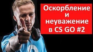 Оскорбление и неуважение в CS GO #2