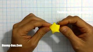 Hướng dẫn cách gấp Ngôi Sao May Mắn trang trí ngày tết - Origami