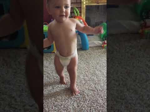 Vinny's first steps