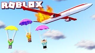 Roblox Adventure - CAN YOU ESCAPE A BURNING PLANE IN ROBLOX! (Escape the Plane Crash Obby)