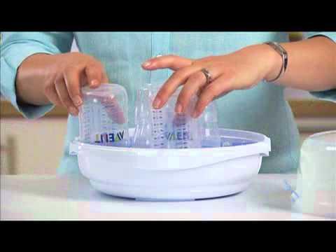 Avent Mikrowellen Sterilisator mit Füllung