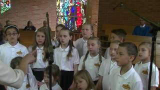 "Gintareliai Children's Choir Performing ""Sveika, O Marija""."