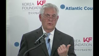 """Tillerson To North Korea: """"Let"""