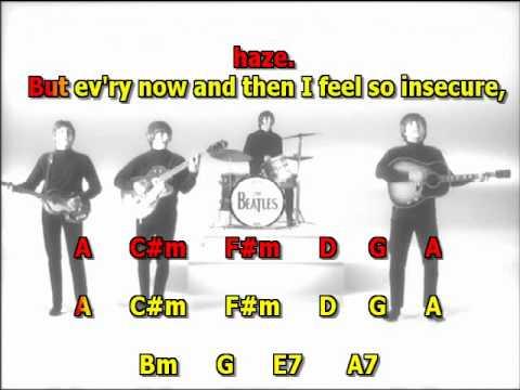 Help the Beatles best karaoke instrumental lyrics chords 2 Version