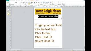 Year 5 - Publisher Newspaper Report Tutorial