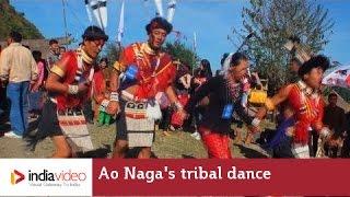 Ao Naga's tribal dance, Nagaland