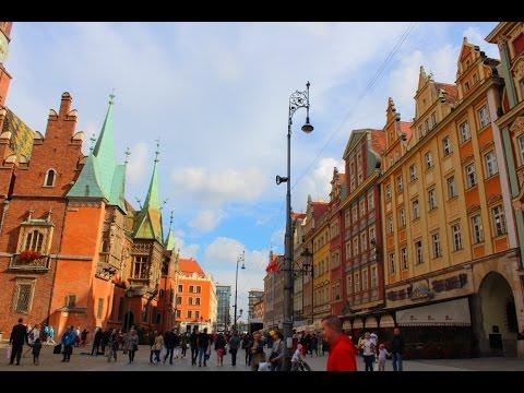 Прогулка по городу. Достопримечательности Вроцлава.
